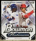 2019 Bowman Platinum Monster Box factory sealed 2 Autograph AUTO per box Qty
