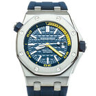 Audemars Piguet Royal Oak Offshore Diver Watch Blue Yellow 42mm 15710ST.OO.A027C