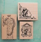 Tim Holtz STAMPERS ANONYMOUS Collage Rubber Stamps Art Woman Vintage Writing