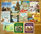 Lot 11 AMERICAN WEST Childrens Books pioneers Native Americans gold rush L1