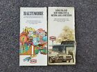 1971 TEXACO ROAD MAPS - Two maps Baltimore and Long Island, NYC
