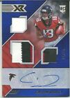 CALVIN RIDLEY TRIPLE PATCH JERSEY AUTO ROOKIE PANINI XR #04/15 AWESOME!