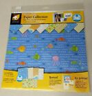 NEW SCRAPBOOK PAPERS KIT 12 Sheets 12 x 12 BEACH FUN with 15 Cardstock Accents