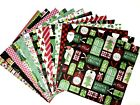 12X12 Scrapbook Paper lot 14 Sheets Christmas Holiday Prints Card Making L010