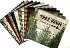 12X12 Scrapbook Paper lot 14 Sheets Christmas Holiday Prints Card Making L63