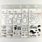 Mama Elephant Lot Of 5 Clear Stamp  Die Sets Thanks A Ton Rock Monster Panda