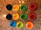 Fiesta Fiestaware Tea Cups Coffee Mugs Cups and Saucers Set Of 11 Mix Lot Color