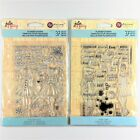 Prima Julie Nutting Lot Of 2 Planner Clear Stamp Sets Holiday Bliss