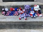 TY Beanie Babies LOT- Patriotic Liberty USA America