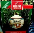 Gift Bringers`1990`St Lucia`Glass Ball Hallmark Christmas Tree Ornament-