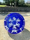 CAITHNESS GLASS FESTIVE SNOWFLAKE 2000 CHRISTMAS PAPERWEIGHT BY COLIN TERRIS