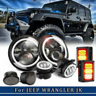 8P 7LED Headlight  FogTurn Tail light Fits For Jeep Wrangler JK 07 17