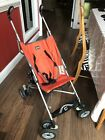 Chicco Ct0.6 Capri Lightweight Stroller, Orange With Carrying Case - USED