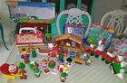 Little People Christmas Lot Fisher Price Nativity Gingerbread Reindeer Very Nice