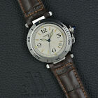 CARTIER Pasha Automatic 38MM Stainless Steel BOX 2000 SWISS Mens WATCH