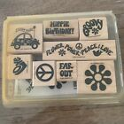 Stampin Up Retired Rubber Stamp Set GROOVY