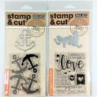 Hero Arts Stamp  Cut Lot Of 2 Clear Stamp Die Sets Love  Anchor