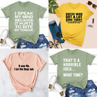 Unisex Party T shirts College Sarcastic Shirt Summer Fashion Saying Tee Tops