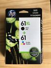 GENUINE HP 61XL BLACK  HP 61 TRICOLOR COMBO PACK EXP 11 2020 or later