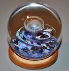 Selkirk 1991 Colored Twist Controlled Bubble L E Art Glass Paperweight