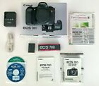 Canon EOS 70D 202MP Digital SLR Camera Black Body Only 8469B002 + Extras