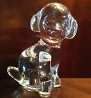 DAUM FRANCE Crystal Figurine Seated LABRADOR Puppy Dog SIGNED MINT CONDITION