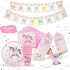 Unicorn Party Supplies Birthday Bundle For Girls Complete Set Tableware Kit