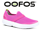 OOFOS OOMG Womens Recovery Footwear Impact Absorption SHOES White Pink NEW