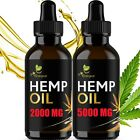 2 pack Hemp Oil Organic Extract For Pain Relief, Stress Anxiety, Sleep - 5000 mg
