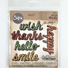 Sizzix Tim Holtz Shadow Script 2 Thinlits Die Set Cutting Dies Words Phrases