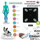Smart Body Bathroom Weight Scale Fat Bones BMI Digital Bluetooth Fitness APP
