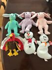LOT of 6 Ty Beanie Baby Holiday Christmas Bunny Gobbles Spooky