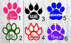 Paw print Vinyl Decal A Approx 3inchx3inch