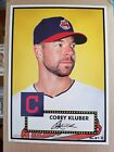 2015 Topps Limited Gold Edition 10x14 Cory Kluber 1952 Tribute Wall Art 1 1