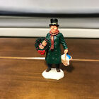 Lemax Christmas Village Figurine Victorian Man Wreath Basket Goose
