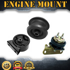 3X Engine Motor Trans Mount Set Kit For 1989 1991 GEO METRO L3 10L 61cid MT