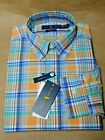 NEW Polo Ralph Lauren Mens Big  Tall Plaid Cotton Poplin Shirt LTXLT Orange