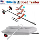 Boat Trailer Bend Kayak Carrier Boat Canoe Dolly Trailer Tote Trolley Raft Wheel