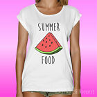 WOMENS T SHIRT  SUMMER FOOD WATERMELON  ROAD TO HAPPINESS GIFT IDEA