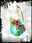Rare Christopher Radko EARTH with DOVE Polish wishes Handcrafted Glass Ornament