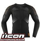 Icon Field Armor Compression Shirt D30 Motorcycle Protection S 2XL
