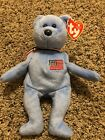 TY AMERICA (BLUE) the BEAR BEANIE BABY - MINT with MINT TAG