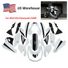 Black & White Complete Fairing Kit Injection ABS for 2010-2013 Kawasaki Z1000 US