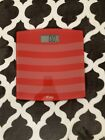 Weight Watchers Digital Glass Bathroom Scale Red 400 lb Capacity