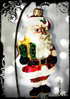 NEW! Christopher Radko CLASSIC SANTA with a Gift Handcrafed Glass Ornament