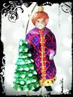 Lux Christopher Radko ORIENTAL SANTA Richly Decorated Handcrafted Glass Ornament