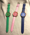 Colorful Dial Face Watches Watch Rose Gold Tone Blue Pink Green homage to Chanel