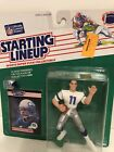 1989 Starting lineup Kelly Stouffer figure Card Seattle Seahawks Toy Colorado St