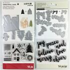 Recollections Lot Of 2 Christmas Clear Stamp Die Sets Decorate A House Mini Word