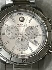 Movado Mens800 Series Chronograph Stainless Steel Sapphire Crystal Watch 2600111